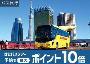 はとバス 夏旅行がポイント10倍!