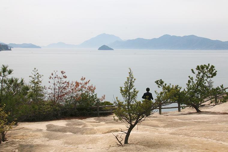 大久野島の夕日の丘