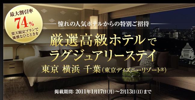 厳選高級ホテルでラグジュアリーステイ 東京 横浜 千葉(TDRR)  すべての施設から探す  【